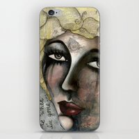 blondie iPhone & iPod Skins featuring Blondie by The Waking Artist
