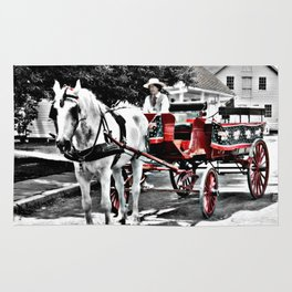 Mystic Carriage Ride Photography Rug