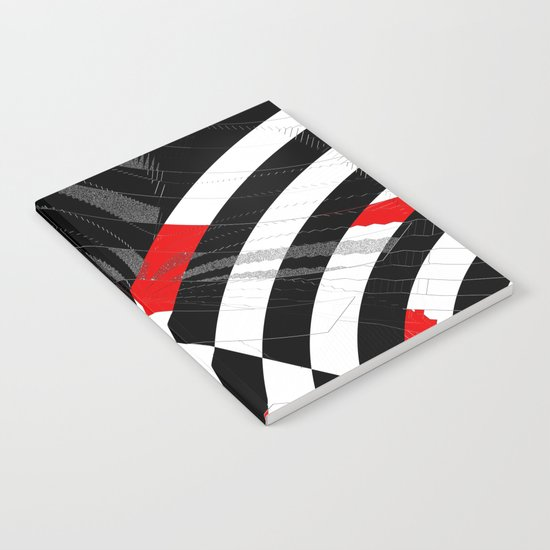 black and white meets red Version 8 Notebook