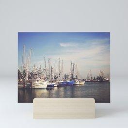 Shrimp Boats at the Harbor Mini Art Print