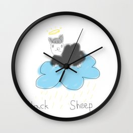 black sheep in heaven Wall Clock