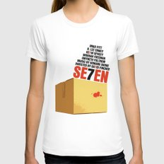 Seven Movie Poster Se7en SMALL Womens Fitted Tee White