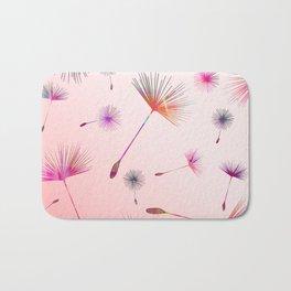 Festive Colorful Dandelions Design Bath Mat