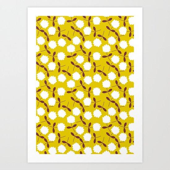 Daisy Mustard Art Print