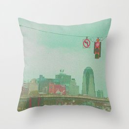 no left turn Throw Pillow