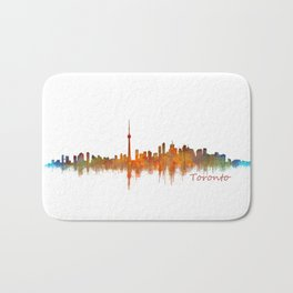 Toronto Canada City Skyline Hq v02 Bath Mat