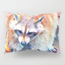 Aquarell Raccoon Pillow Sham