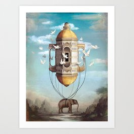 Imaginary Traveler Art Print