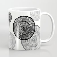 tree rings Mugs featuring rings by Claire Rose Kleese