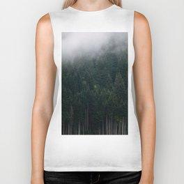 Mystic Pines - A Forest in the Fog Biker Tank