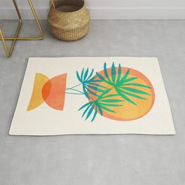 Summer Eclipse / Mid Century Abstract Shapes Rug