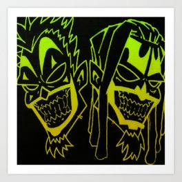 Icp heads Art Print