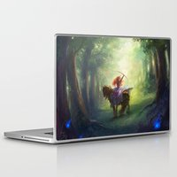 be brave Laptop & iPad Skins featuring Brave by hart-coco