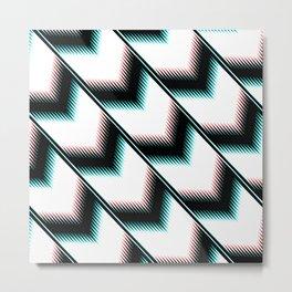 Black and white modern pattern Metal Print