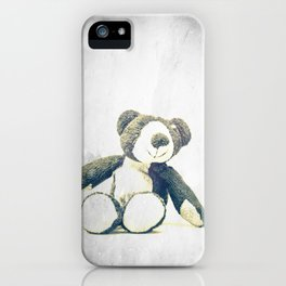 sitting teddy bear... iPhone Case
