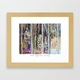 POSITIVE AFFIRMATION WORDS TREES Framed Art Print