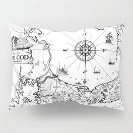 Vintage Map of Cape Cod BW Pillow Sham