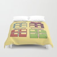 gift card Duvet Covers featuring Gift by Robert Leyen
