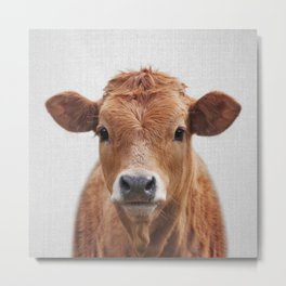 Cow 2 - Colorful Metal Print