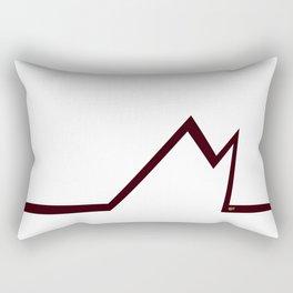 M RED LETTER #minimal #art #design #kirovair #buyart #decor #home Rectangular Pillow