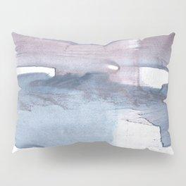 Dark gray colorful watercolor texture Pillow Sham