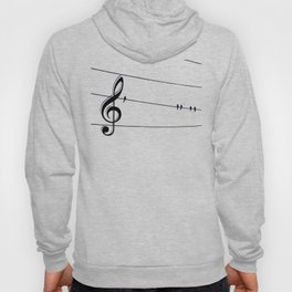 Natures Choir Birds on Wire Music Note A611W Hoody