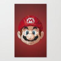 mario Canvas Prints featuring Mario by s2lart