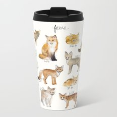 Foxes Metal Travel Mug