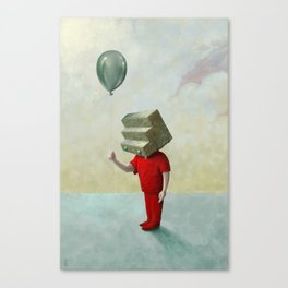 Step-headed Red Child Canvas Print