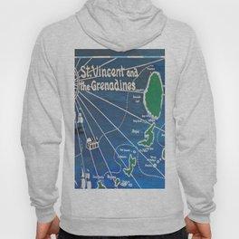 St. Vincent & Grenadines Sailing Map Hoody