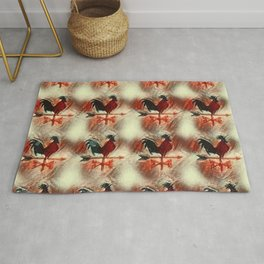 Rooster pattern R4 Rug