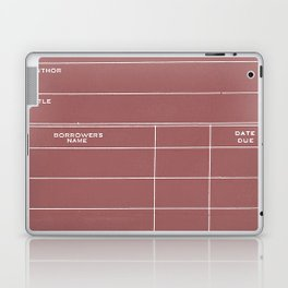 Library Card BSS 28 Negative Red Laptop & iPad Skin