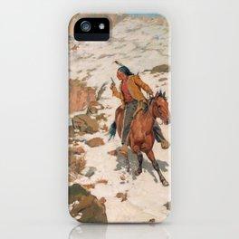 Charles Schreyvogel In Hot Pursuit iPhone Case