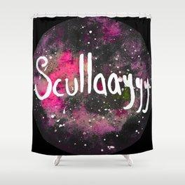 Scullayyy Pink Space Nebula Shower Curtain