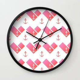 Florida Scarf Anchor Pattern Wall Clock