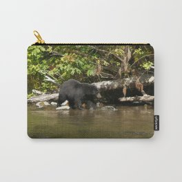 The Salmon Whisperer - A Hunting Black Bear Carry-All Pouch