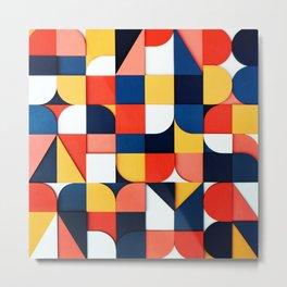 Colors Fragmentation Metal Print