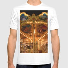 The Carousel. White Mens Fitted Tee MEDIUM