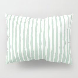 Simple Abstract Rough Organic Stripes | Light Natural Colors, Grass and Forest Pillow Sham