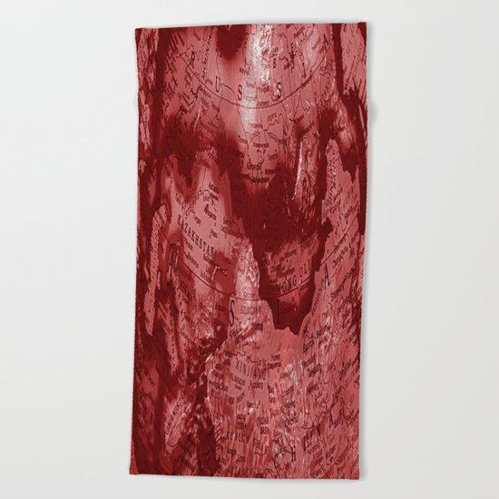 Russia in Red Beach Towel