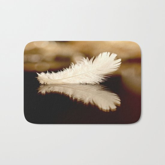 Feather Reflection Bath Mat