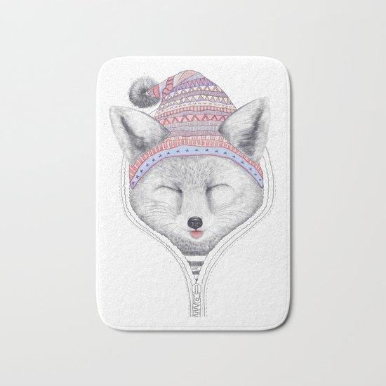 The Fox in a hood Bath Mat