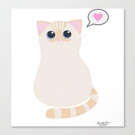 I meow you - transparent Canvas Print