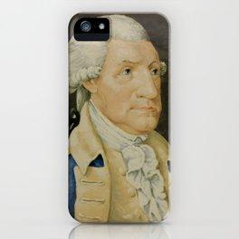 Vintage George Washington Portrait Painting (1800) iPhone Case