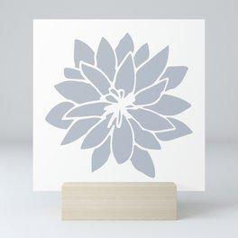 Flower Bluebell Blue on White Mini Art Print