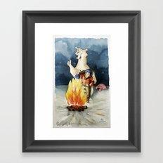 Smile honey! Framed Art Print