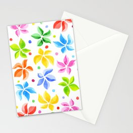 Floral Leaves Stationery Cards