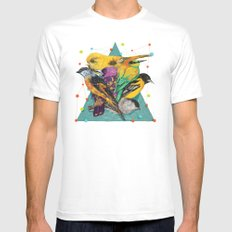Colour Party Mens Fitted Tee MEDIUM White