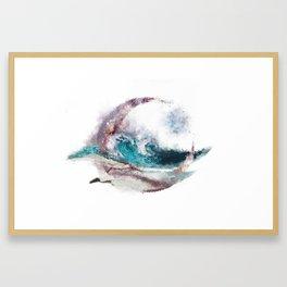 Seaside Future Gazing Framed Art Print