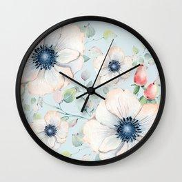 Summer Flowers #society6 #buyart Wall Clock